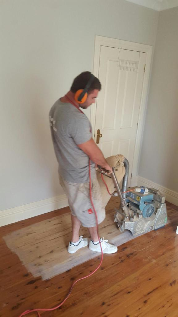 Cleaning up after hardwood flooring installation in Albury Wodonga